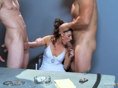 Irresistible India Summers gets moist mouth hammered