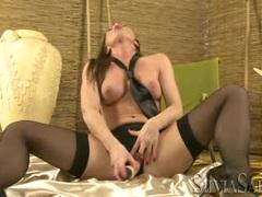 Sylvia Saint loves toying her juicy moist pussy