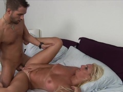Emilianna takes this hard dick deep in her moist slot