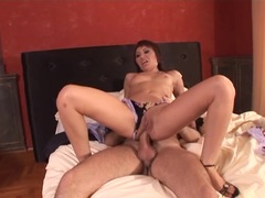 Sexy Asian gets her butthole filled with spunk