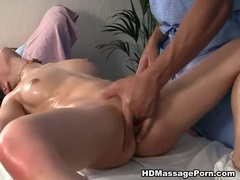 Hardcore massage fuck with amazing brunette girl