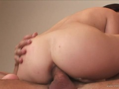 Holly West rides her tight asshole on this huge dick