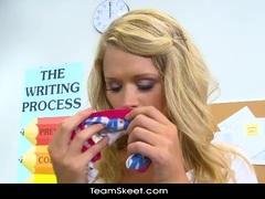 InnocentHigh Horny blonde teen Heather Starlet