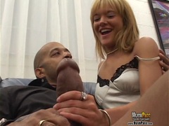 Petite sexy small blonde gets fucked by Blackzilla