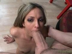 Lexi Love gets a supper sized cock in her MILF mouth