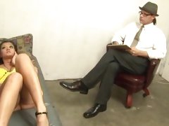 Creampie therapy for hot babe Cece Stone