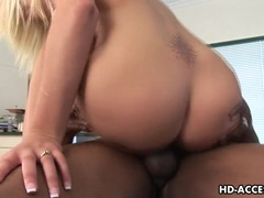 Sexy Stacy Thorn riding a huge hard black cock