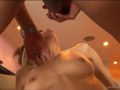 Jenny Hendrix gets her face doused with warm cum