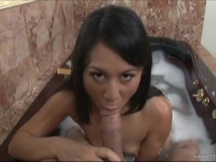 Luscious Kayme Kai gets her mouth stuffed with cock