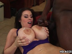 Busty whore Daphne Rosen interracial sex