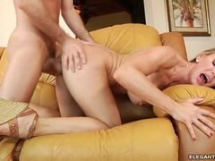 Saucy babe Tanya Tate gets her face drizzled with spunk