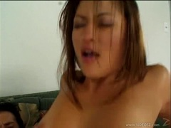 Saucy Charmane Star gets plastered with hot dick juice