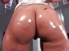Charley Chase enjoys this oily rod