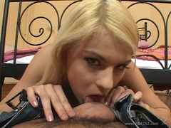 Randy Jasmine Rouge loves slurping on this stiff shaft