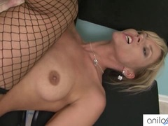 Hot blonde cougar loves getting a ass fucking