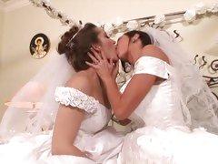 Bridal lesbians with Veronica Avluv and Dani Daniels