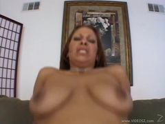 Hot Leah Lexington bounces her pussy on this hard prick