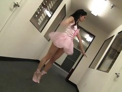 Ballerina Jenna Ross gets slammed by a big dick