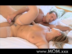 MOM Passionate creampie for a busty MILF