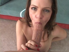 Wild June Summers takes this hard dick down her throat