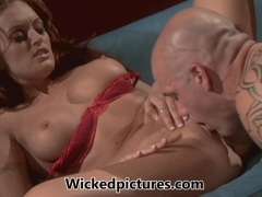 Monica Mayhem is tongued and twatted by a big dick