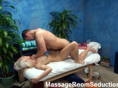 Blonde Maci Lee FUCKED on massage table