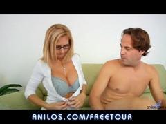 Brooke Tyler Cum on her huge milf tits