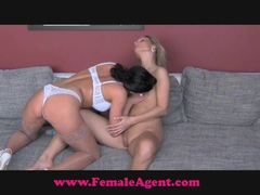 Female Agent Bisexual blonde beauty
