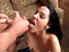 Veronica Rayne gets her mouth filled with warm cum