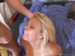 Charlee Chase gets her face glazed with warm jizz