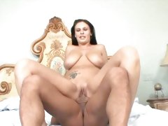 Horny Bella Blaze bounces her pussy on this stiff shaft