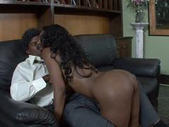 Sassy Nyomi Banxxx devours this hard throbbing cock