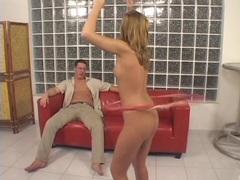 Hula hooping babe gets her sweet snatch slammed