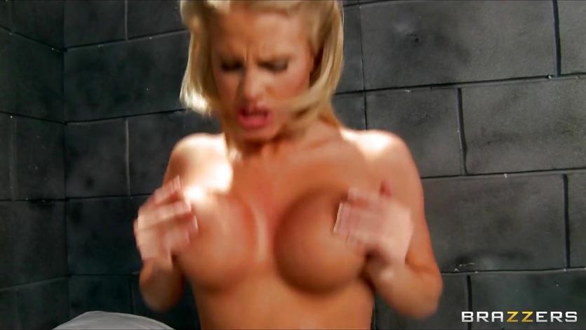 Inmate fucks his busty blonde prison nurse to orgasm 2