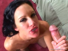 Saucy Taylor Rain gets plastered with warm cock juice