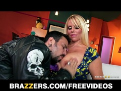Slutty blonde MILF Karen Fisher is slammed hard