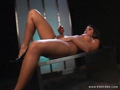Sizzling Cody Lane finger fucks her juicy moist pussy
