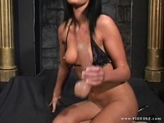 Racy Melissa Lauren rams her dildo deep in her wet slot