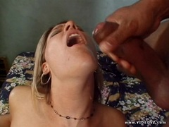 Delilah Stone gets her mouth filled with thick cum