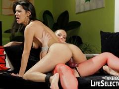 Kathia Nobili and Samia Duarte lesbian lust
