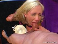 Sensual Hillary Scott gags on this huge throbbing cock