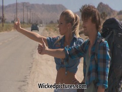Samantha Saint hitchhikes to a sultry fuck