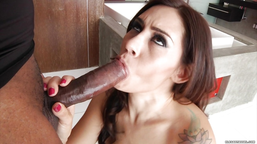 Scorching babe Raylene loves slurping on this hard dick