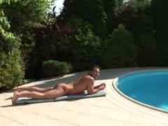 Sabrina poolside foreplay