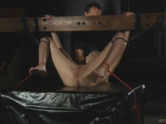 Virgin Angel Hott Nightmare in chains and bondage