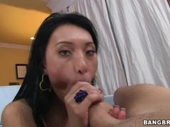 Sensual Jayden Lee wraps her lips round this huge shaft