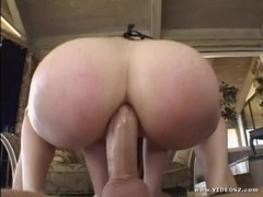 Horny Ashley Haze rides her hot ass on this huge dick