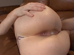 Bubbly butt creampie for redhead