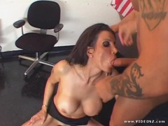 Shay Sights gets her mouth filled with warm jizz