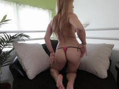 Gorgeous Lea Lexus exposes her delicious round ass